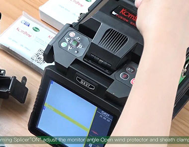GX37 Single Fiber Fusion Splicer operation video