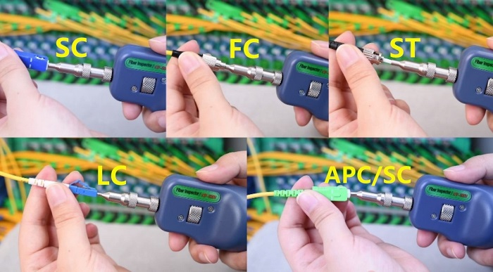 Intelligent portable optical fiber connector inspection scheme